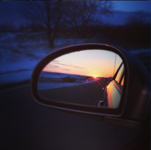 Sunrise in the Mirror